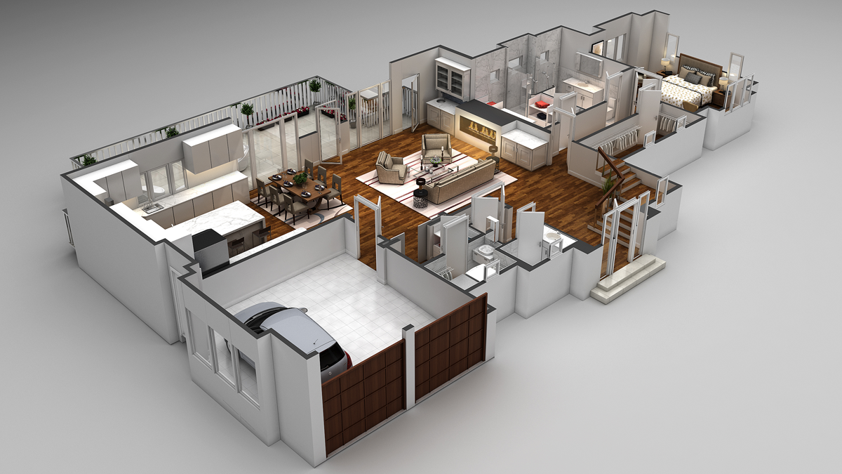 3d floor plans cartoblue for 4 bedroom 3d house plans