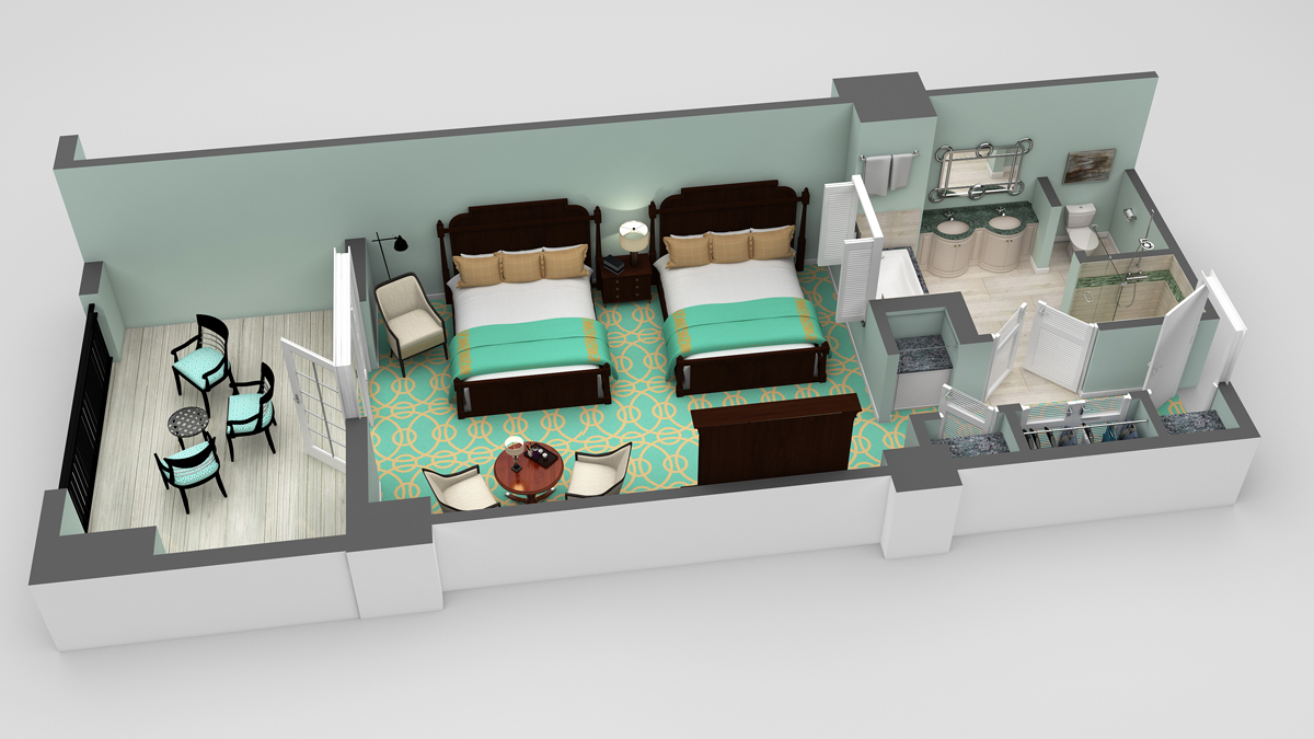 Hotel room layout 3d images galleries for Website to design a room