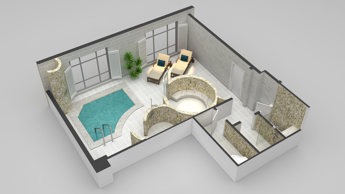 3d floor plans cartoblue for 3d salon floor plans