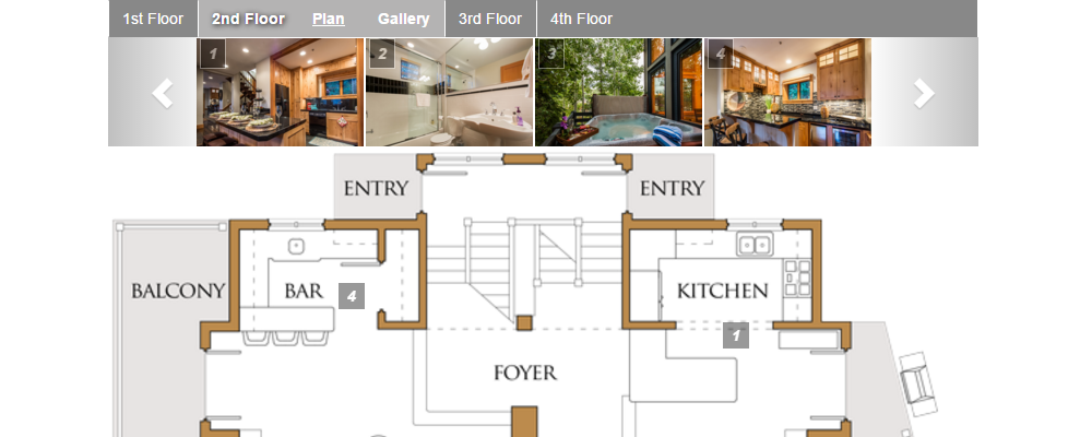 Exceptional Vacation Rentals | Interactive Floor Plans Photo