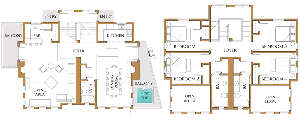 2d floor plans for vacation rental properties online
